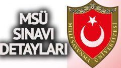 Milli Savunma Üniversitesi (MSÜ) Sınav Takvimi