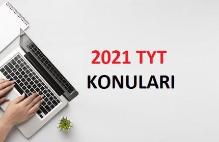 2021 TYT Matematik Konuları-Soru Dağılımı (ÖSYM-YÖK)