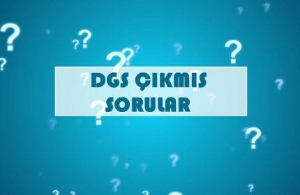 DGS Tüm Çıkmış Soruları PDF (Tamamı)